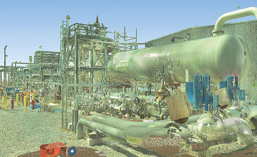 Scan to model - Scanned refinery